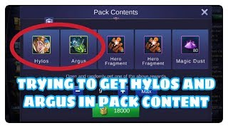Trying To Get Hylos And Argus in Pack Content (Gone Wrong)