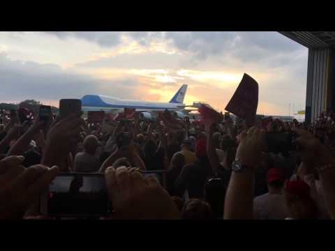 Air Force One GRAND ENTRANCE  TURN UP THE SOUND!!!!