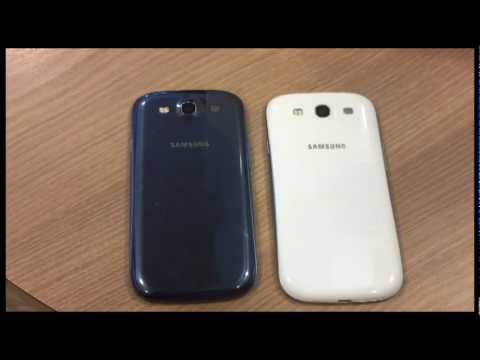 Samsung Galaxy S3 Pebble Blue vs Marble White! WHICH COLOR IS BETTER??