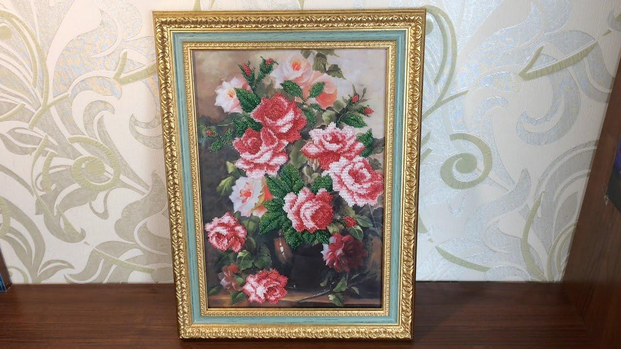 Вышивка розовая элегия 86
