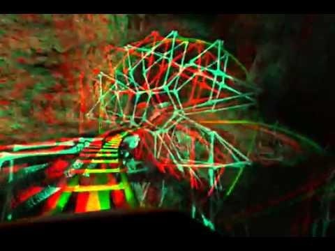 3D Стерео видео ролик Американские Горки смотреть в 3D очках - YouTube