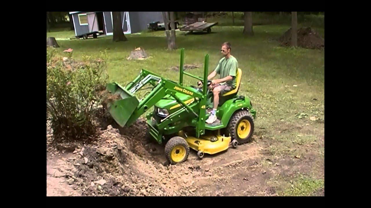 John Deere x729 45 loader Demonstration - YouTube