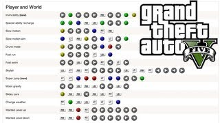 GTA V (5) ALL 31 CHEATS! Xbox 360 & PS3 (Invincibility, Max Health and Armour, Give Weapons)