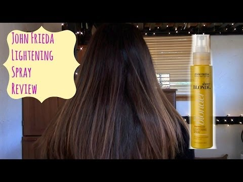 John Frieda Sheer Blonde Lightening Spray on DARK/ BROWN Hair