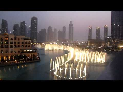 Dubai Fountains - Whitney Houston - I Will Always Love You - The English College, Dubai video