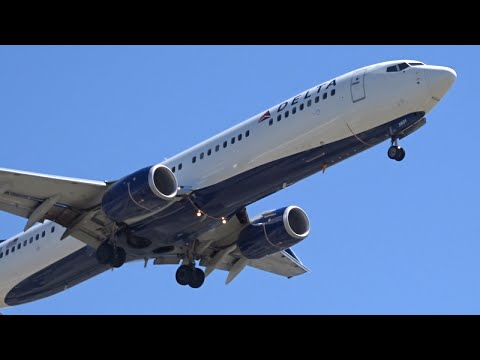Delta Airlines Boeing 737-900ER [N801DZ] landing at Los Angeles (LAX/KLAX)