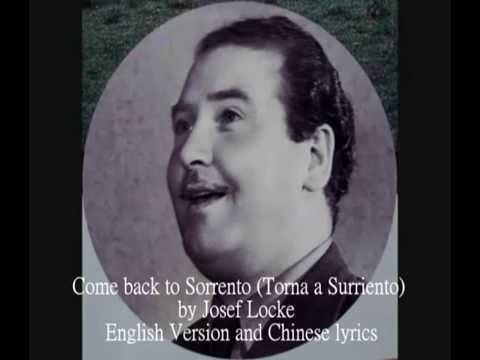 Al Martino - Come Back To Sorrento(Lyrics) - YouTube