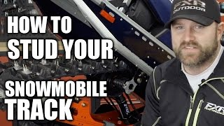 How To Stud Your Snowmobile Track