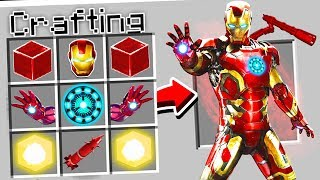 CRAFTING ULTIMATE IRON MAN IN MINECRAFT!