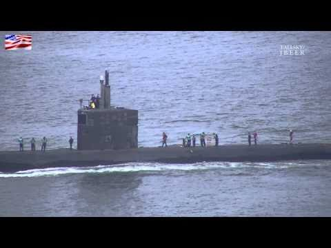 US Navy: USS Jefferson City (SSN-759) Arriving Home - LA Class Attack Submarine - San Diego