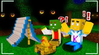 MANUCRAFT AND I'M GOING TO CAMP IN THE FOREST AT NIGHT at MINECRAFT 💀