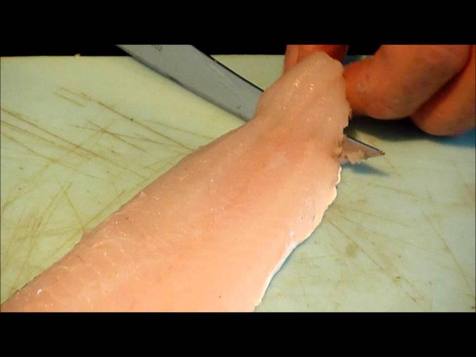 Fillet Skin Skinning a Whiting Fillet