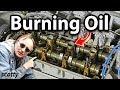 Combustion d'huile moteur