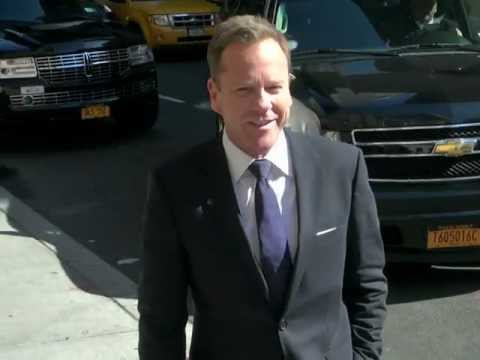 Kiefer Sutherland arrives at The Late Show With David Letterman - NYC Apr 2, 2012