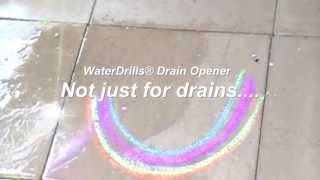 How to clean Patio Stones with WaterDrills®
