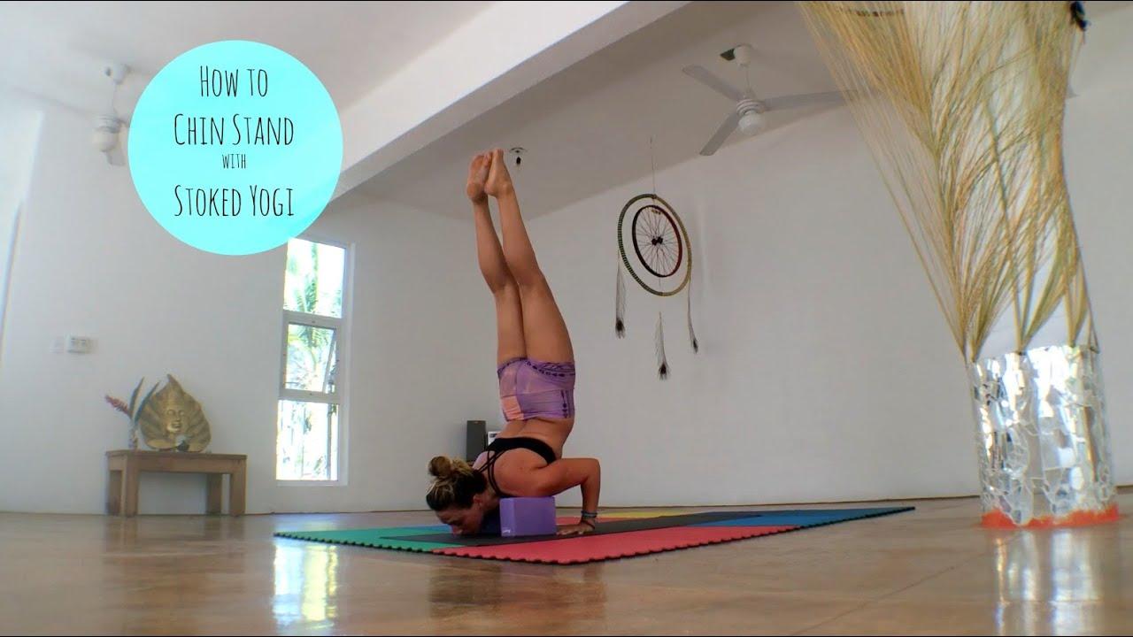 Chin Stand Yoga (Ganda Bherundasana) - Tummee.com
