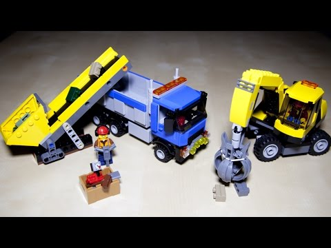 Lego City 60075 Excavator and Truck - Lego Speed Build Review