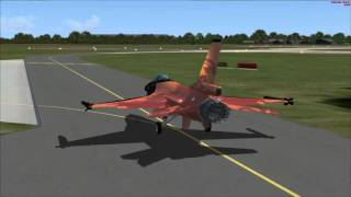 F16 Falcon Demoteam Aerosoft FSX Start-up-at Volkel Parking 20