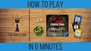 How to Play Jurassic Park Danger! in 6 Minutes - The Rules Girl