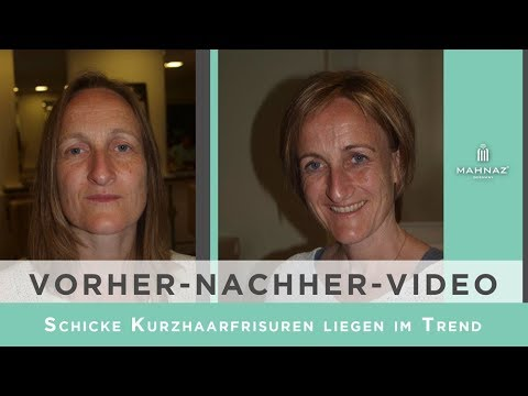 Schicke Kurzhaarfrisuren liegen im Trend - Vorher/Nachher in Hamburg