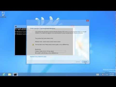 Windows 8 Product Key Activation