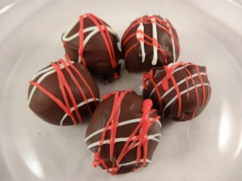 Homemade candy: Cherry bonbons and cookies & cream bonbons