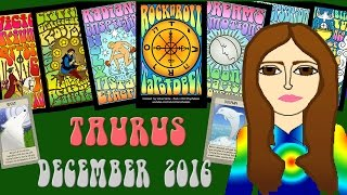 TAURUS DECEMBER 2016 Tarot psychic reading forecast predictions free