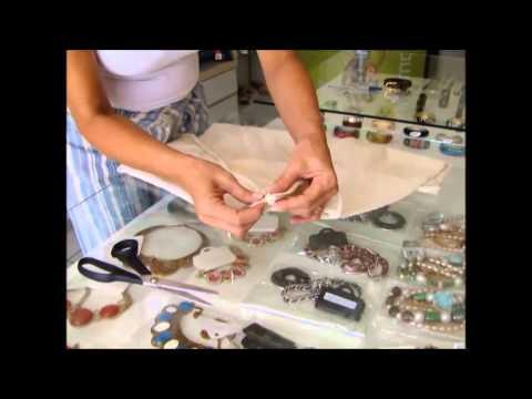 Aprenda como fazer um lindo vestido de um saco