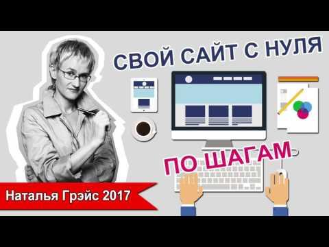 НАТАЛЬЯ ГРЭЙС. СВОЙ САЙТ С НУЛЯ - ПО ШАГАМ. 2017