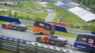 A Caravan Race with an F1 twist! Daniel Ricciardo and Max Verstappen take it to the Red Bull Ring
