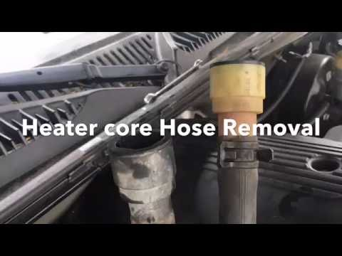 98+ Gm Truck heater core hose removal GM quick connect Removal