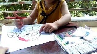 Tô Màu Ông Già Noel Tặng Quà  - Tranh tô màu cho bé
