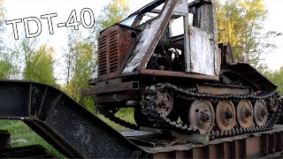 Old Russian Forest Tractor TDT-40 (No Driving) (1080p)