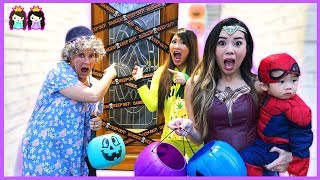 Kids Halloween Trick or Treat for Candy Surprises with Princess ToysReview