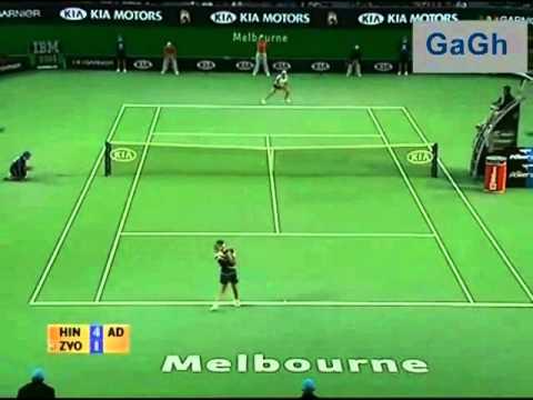 Martina Hingis vs Vera Zvonareva 2006 AO highlights