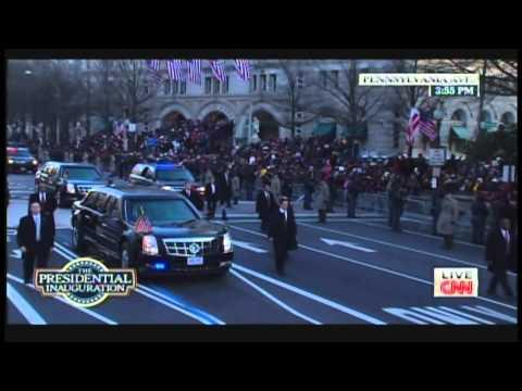 President Obama & Michelle Obama Inaugural Parade Walk Pennsylvania Avenue (January 21, 2013) [1/2]