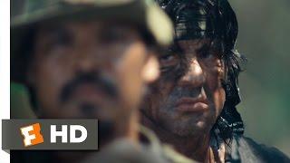 Rambo (10/12) Movie CLIP - 50 Caliber Rescue (2008) HD
