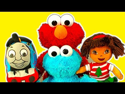 Elmo Live Tells Cookie Monster Toy Story For Dora The Explorer, Thomas The Tank, Classic Toy Review video