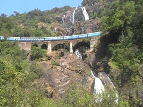 Goa Train Waterfall Dudhsagar Waterfall And Train