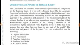 Original jurisdiction and writ jurisdiction of supreme court Part 3
