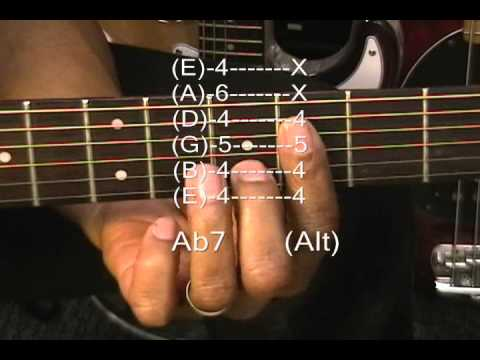 Marvin Gaye Style Guitar Chord TABS Tutorial #113 How To Play Motown R&B Cho