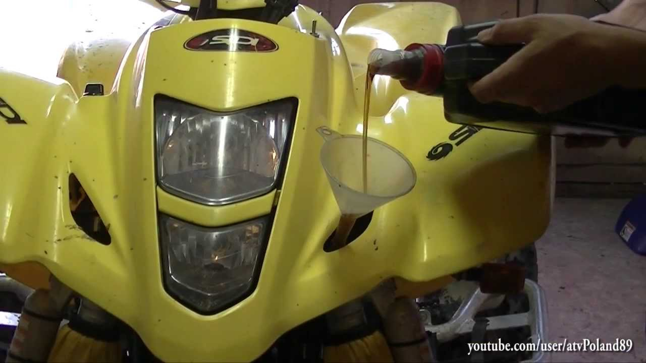 Suzuki Quadsport Oil Change