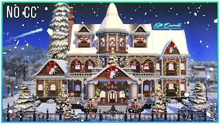 Sims 4 Speed Build - Christmas Dream Mansion | Kate Emerald