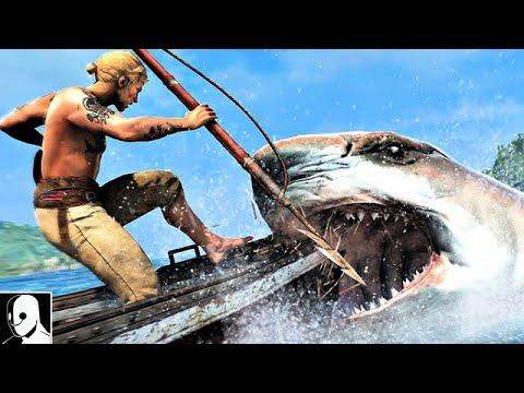Assassins Creed 4 Black Flag Gameplay Deutsch - Edwards Kampf mit den HAIEN