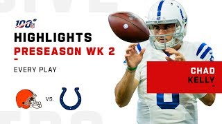 "Every Chad ""Swag"" Kelly Play vs. Browns 