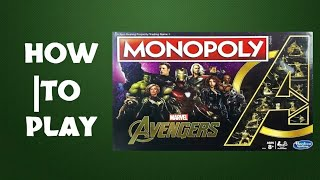 How To Play Monopoly Avengers Board Game by Hasbro (2019)