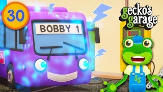 Bobby the Electric Bus | Gecko's Garage | Bus Videos For Kids | Educational Cartoons For Children