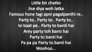 Party To Banti Hai Lyrics from Bhootnath Returns featuring Amitabh Bachchan Lyrics          YouTubev
