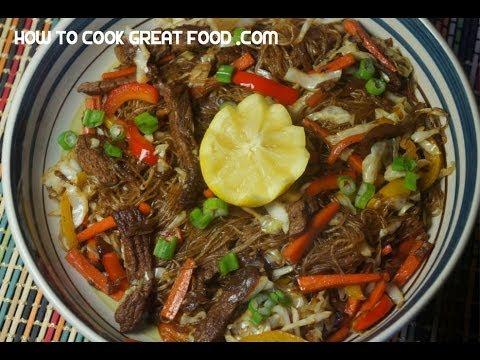 how to cook pancit panlasang pinoy
