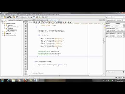 Aplicacion Java y MySQL, Netbeans - Parte6